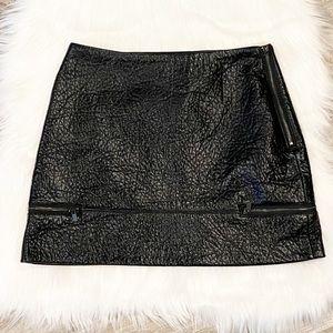 NWT Zara Trafaluc Pleather Mini Skirt Size XS